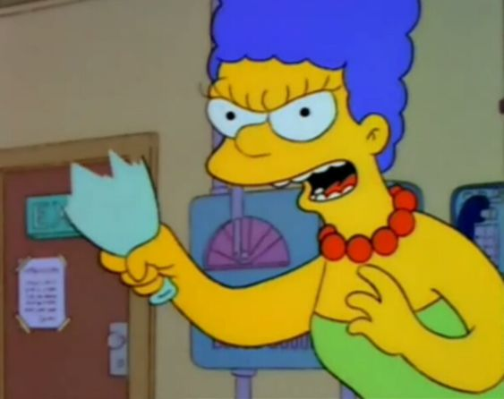 I hear people talking trash about my queen Marge Simpson.