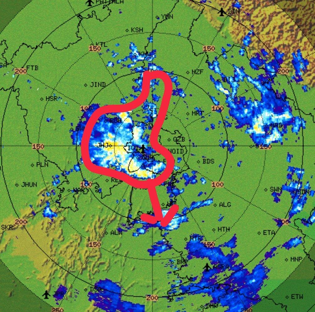 Heavy #rains over #Jhajjar, #Jind, #Rohtak, #Palam, #Gurugram, #Faridabad, #Palwal, #IGI #Airport, #Dwarka, #Bawana, #Rohini and #Bahdurgarh. #DelhiRains @SkymetWeather https://t.co/LHH7OYFJWV