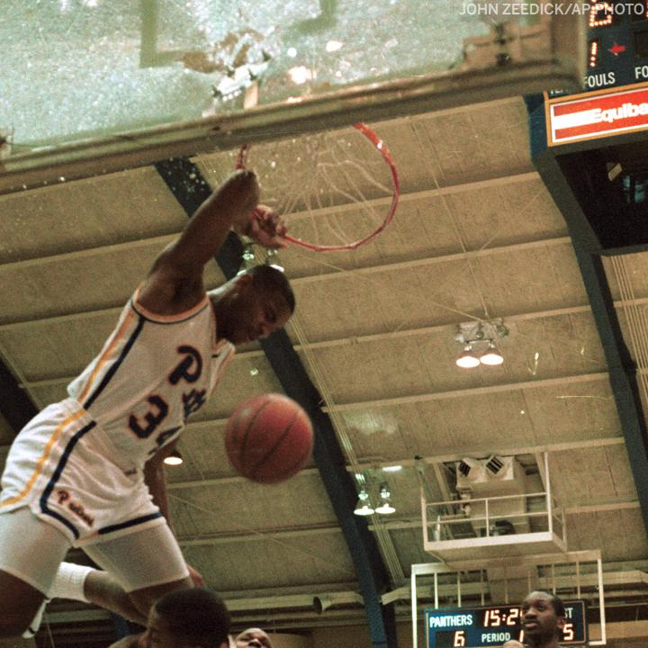 "Replying to @accnetwork: ""SEND IT IN, JEROME!""   33 years ago today, @Pitt_MBB's Jerome Lane shattered the backboard 💥"