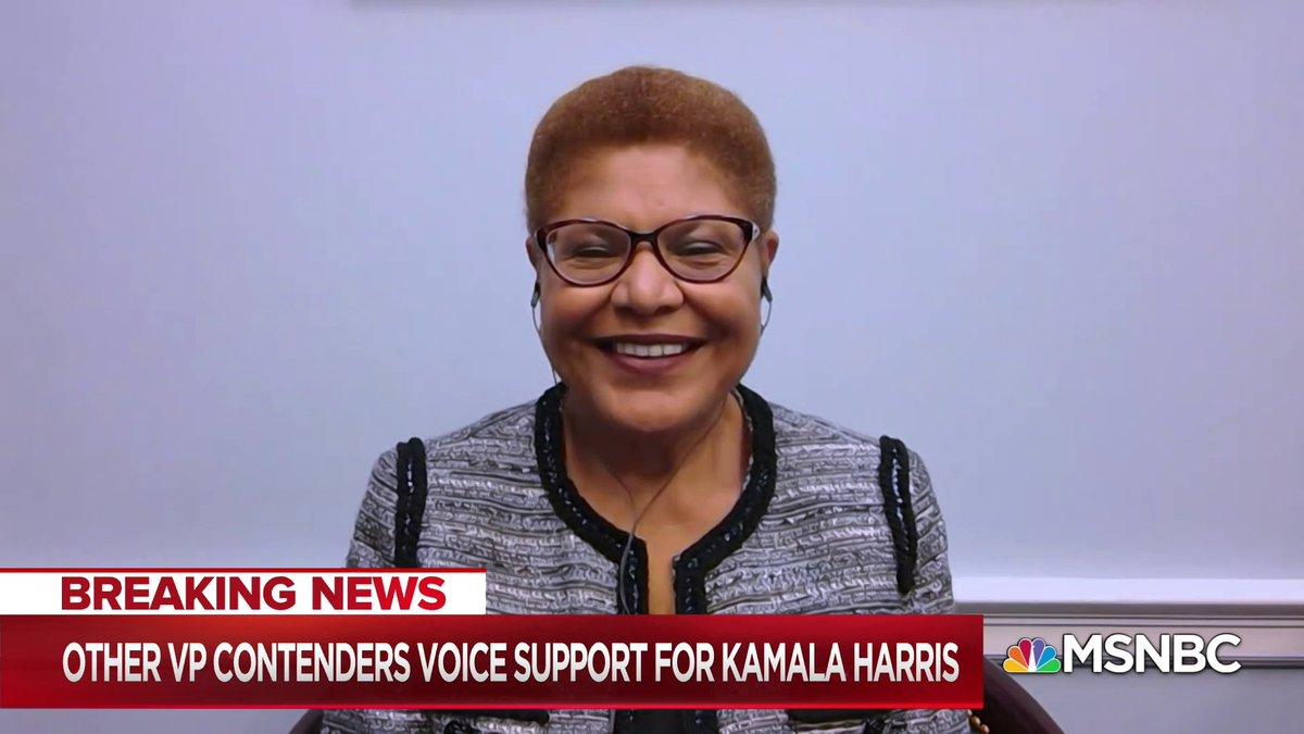 Live now on @MSNBC: Rep. Bass discusses Joe Biden selecting Sen. Harris as his running mate msnbc.com/live
