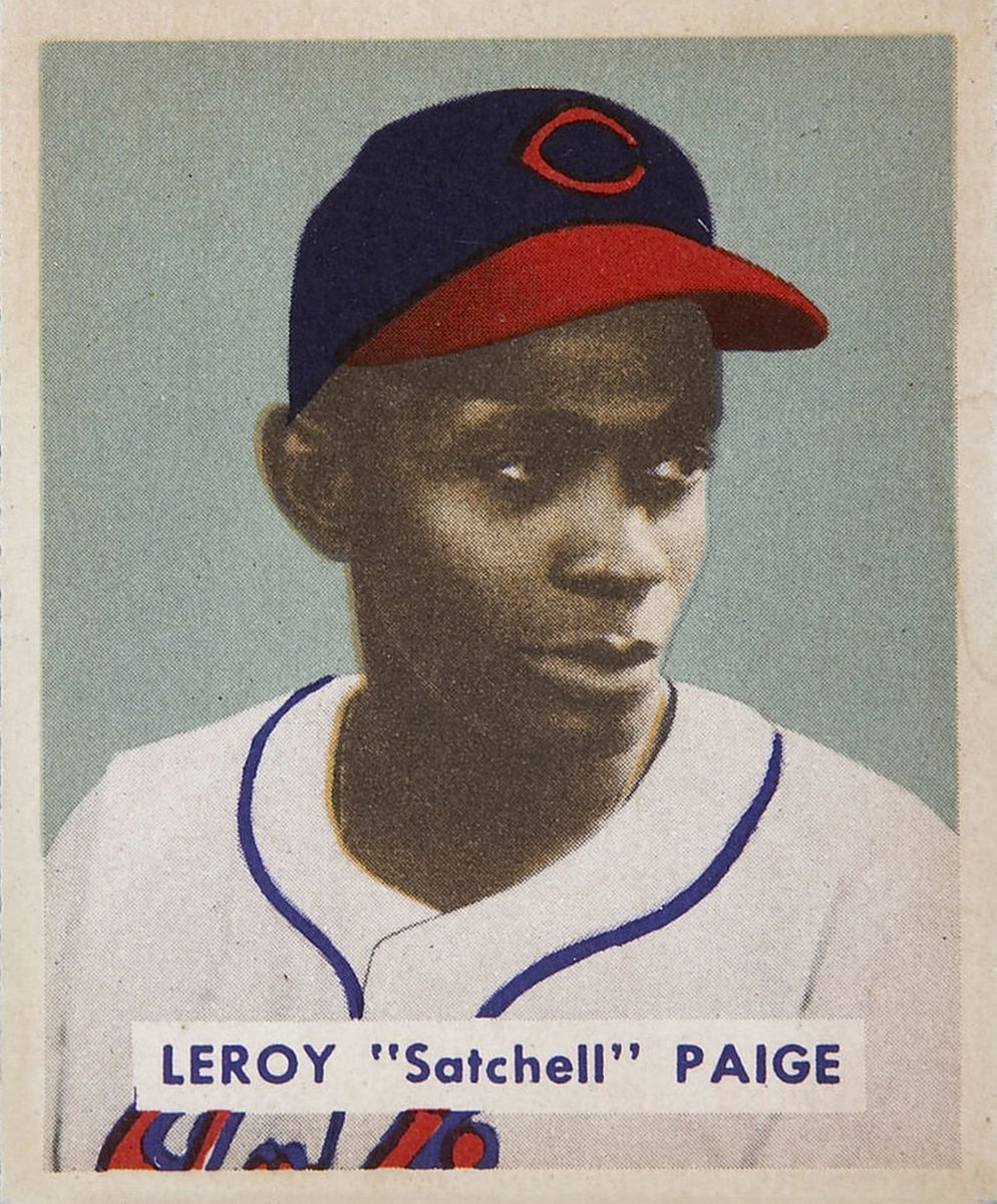 #OTD in #BaseballHistory (8/13/1948): Satchel Paige throws the first shutout of his #MLB career, leading the Cleveland #Indians to a 5-0 win over the Chicago #WhiteSox.  The 42-year-old rookie allows just five hits and improves his record to 5-1.   #MLB #Baseball #History https://t.co/ZJKKl4JcOW