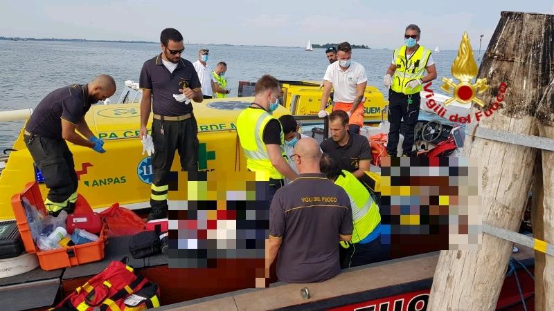 #Venezia incidente in laguna nel tardo pomeriggio....