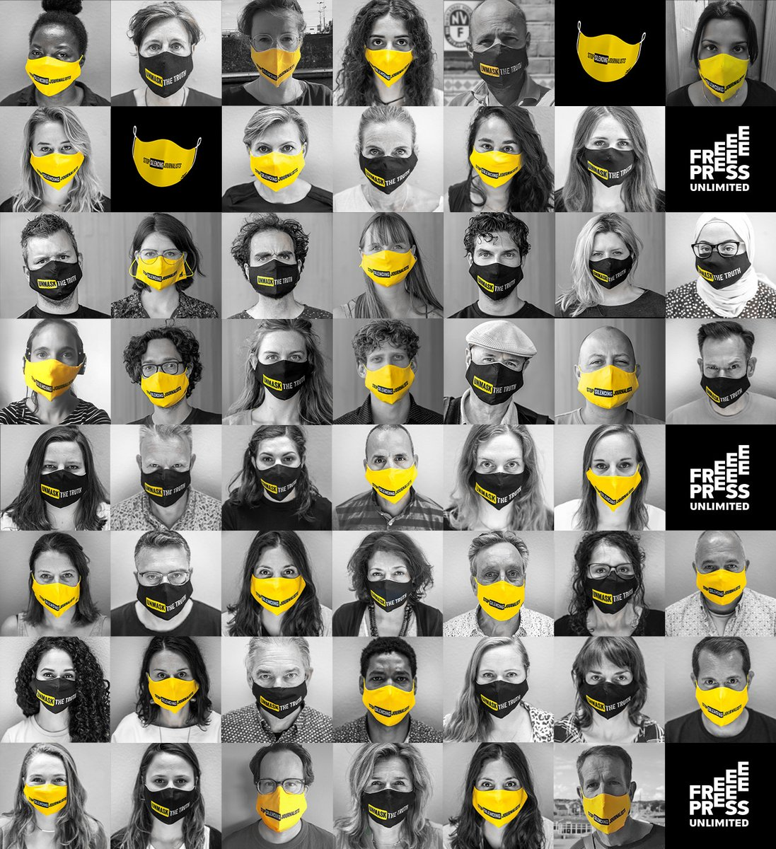 #JournalismIsNotACrime. Show your solidarity with journalists under pressure. Order a mask, take a picture and share it with us along with your short quote. Join our campaign #UnmaskTheTruth.  https://t.co/yC7OLjIW7p https://t.co/kff3ToewkG