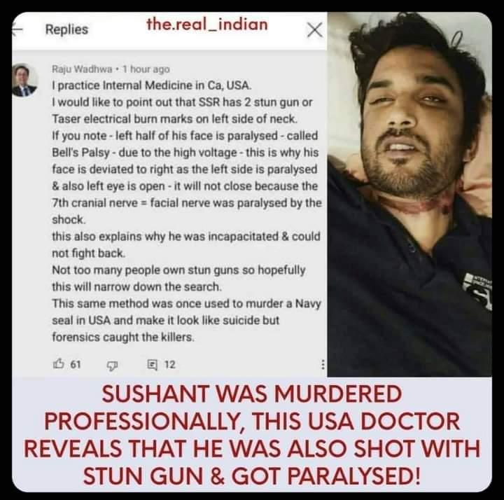 This should be looked into.. #CBIForSSR @republic @arnabofficial7 @TimesNow @ishkarnBHANDARI