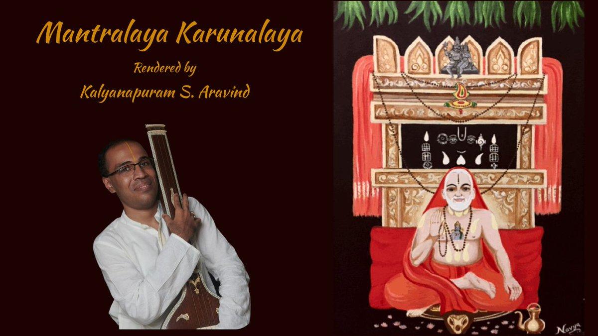 "A Humble offering to Sadguru Sri Raghavendra Swami on a Guruvaram today. Excited to release ""Mantralaya Karunalaya"". @surnell https://t.co/Np0kgX3c3T https://t.co/zFdOlRuTHg"