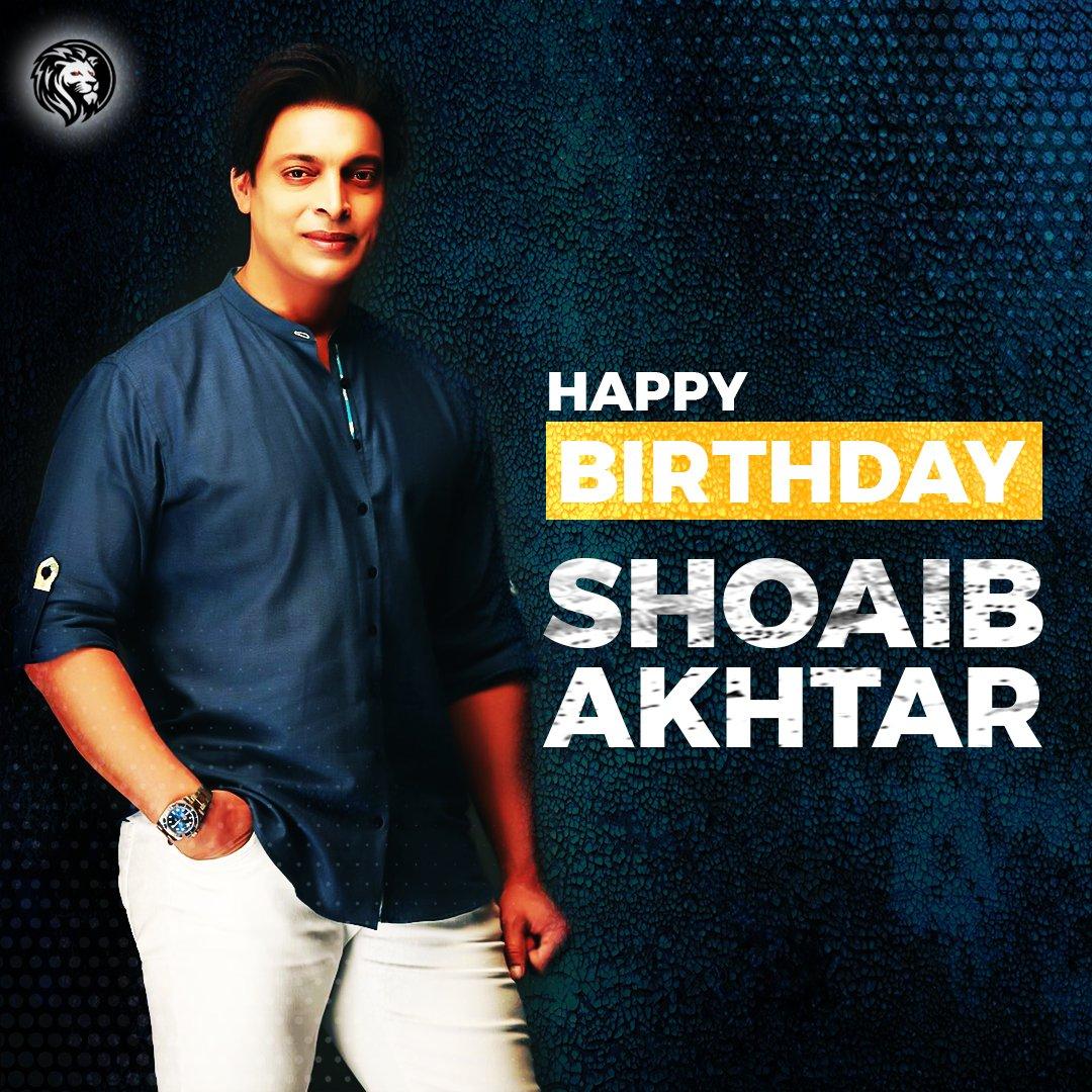 - Birthday Greetings to #RawalpindiExpress, @shoaib100mph! 🚂🏏🇵🇰  #Akhtar #ShoaibAkhtar #HappyBirthdayShoaibAkhtar #Cricket #Pakistan #GAME https://t.co/c5dWV6CrXl