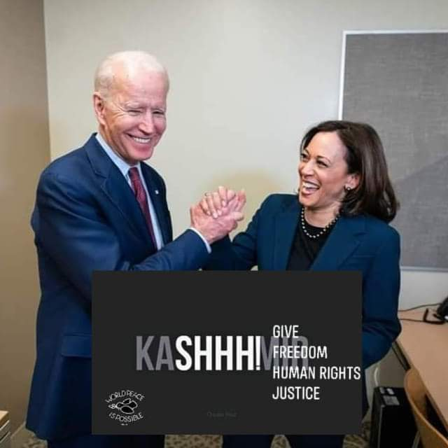 WE STAND WITH KASHMIR INDIA HAVE TO RESPECT HUMAN RIGHTS PEACE FOR KASHMIR #Biden2020Landslide #USA #AmericaWakeUp #KamalaHarris #FreeKashmir #India #pakistan #peace #workout https://t.co/1RowNqXLxC
