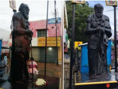 Many Hindu leaders have beenmurdered by nexus of jihadi and anti-Hindu forces in Tamil Nadu, but NSA was not invoked against any of the accused persons. But #Govt has invoked #NSA against a person who painted Anti Hindu Periyar's statue with saffron paint. #TN_Govt_Misusing_NSA https://t.co/cj73xezmss