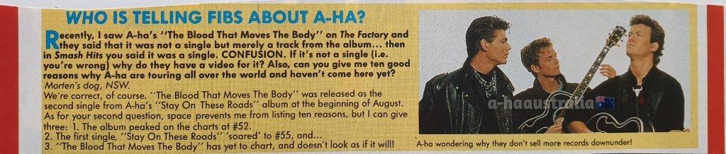 A-ha making an almost last appearance in Smash Hits Australia on this day In 1988!  #aha #mortenharket #magnefuruholmen #paulwaaktaarsavoy #ahacollection #norway #australia #80smusic #ahafans #ahaaustralia #ahaconcert #rockstar #newwave #singer #photooftheday #takeonme https://t.co/iYPHH9G6am