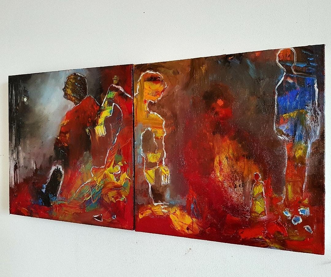 LOST TRIBES  Dyptich, oil on linen  #heatwave #COVID19 #Covid_19 #art #artistsoninstagram #artistsontwitter #artshare #photooftheday #artforsale #kunst #frankvandereijk #artist #kunstler #Aachen #Amsterdam #artbasel #NYC #NY #LA #Holland #Hollywood #tweeluik #tribes https://t.co/r87NmOhvXe
