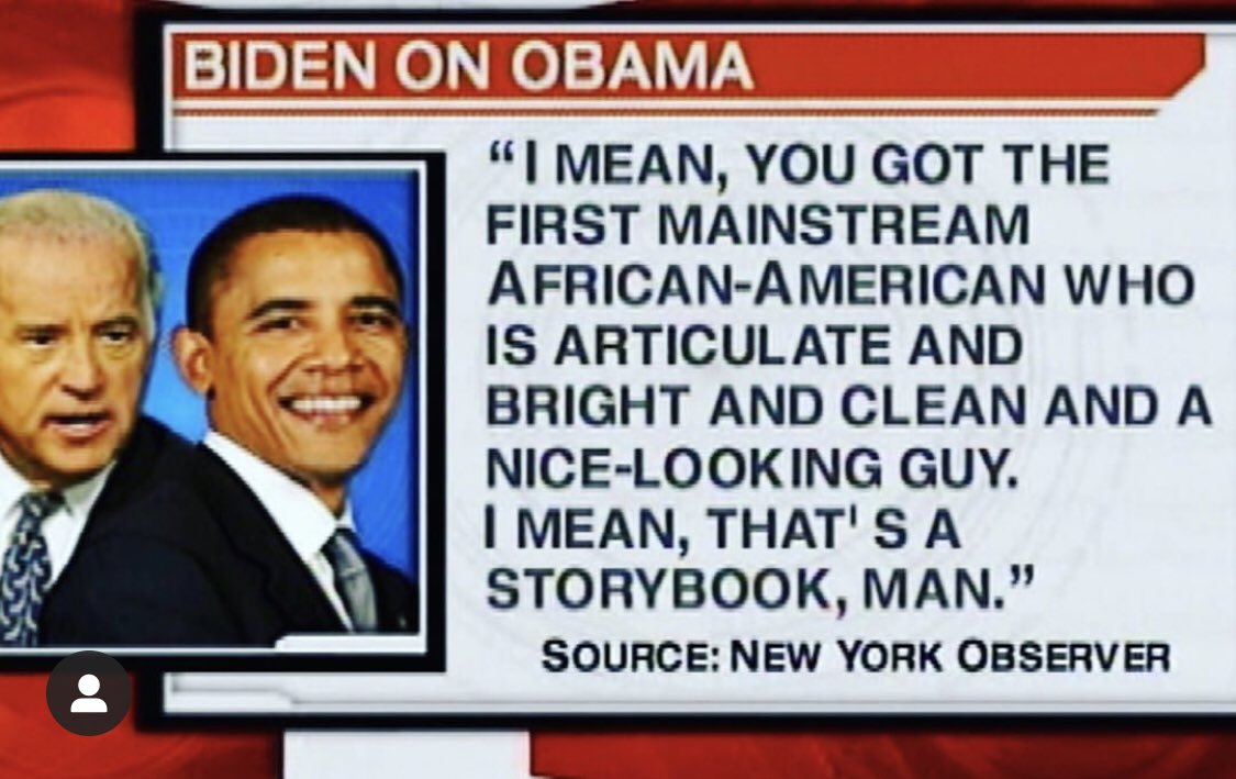 """An0maly on Twitter: """"Republicans were voting in black Americans in 1870.  Biden thinks Obama was the first mainstream articulate African American.  He's legit everything you think Trump is but twenty times worse."""