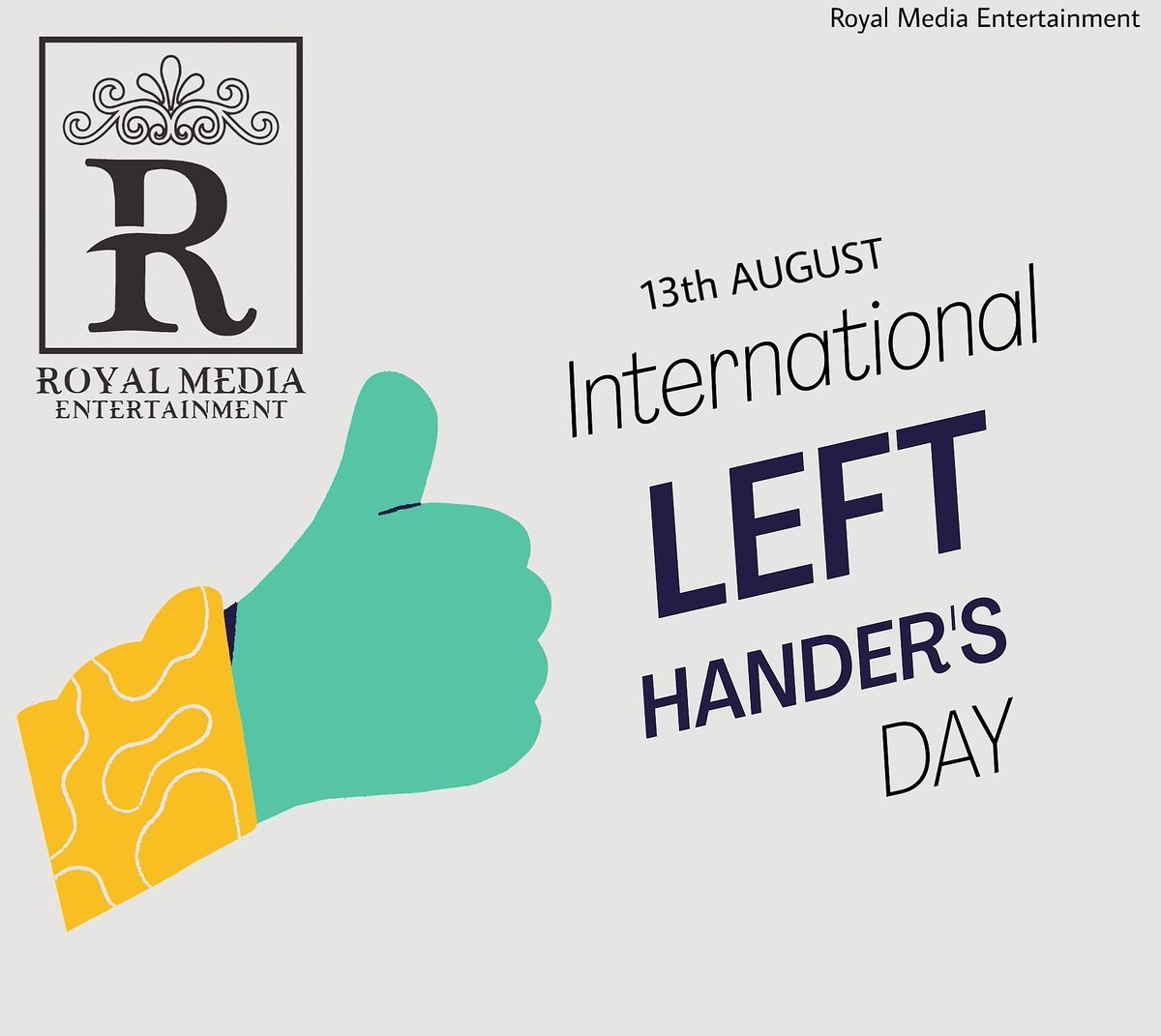 To all the lefties, Happy international Left Hander's Day!  Whatsapp Support +91-9779772926 📧Support@RoyalMedia.in  #royalmedia #royalmediaentertainment #lefthandersday #lefthanded #royal  #youth #love #community #education #motivation #india #covid #like https://t.co/xFSCmb7QO0