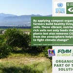 Image for the Tweet beginning: By applying compost, #OrganicFarmers build