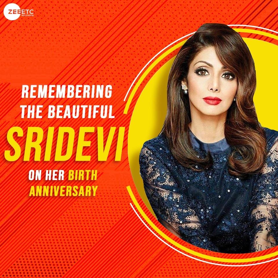 Remembering the gorgeous Sridevi, on her birth anniversary. #Sridevi #birthanniversary https://t.co/vRFwhfCqSm