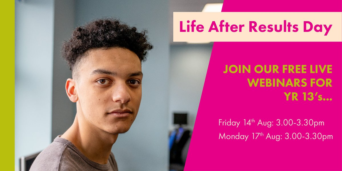 Best of luck to Yr13's who'll be collecting their #results today! Congrats on all your hard work and resilience during this difficult year. Don't forget to join our FREE live webinars for an inspiring and motivating afternoon. Sign up here https://t.co/5tFkdFbppF @WestminsterFdn https://t.co/LkdnWis5FM
