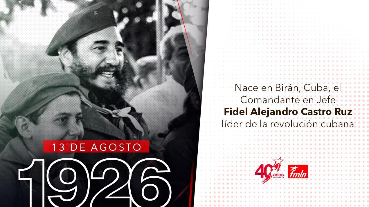 Conmemoran en El Salvador aniversario del natalicio de Fidel Castro