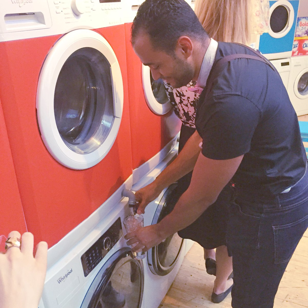 test Twitter Media - This week's #ThrowbackThursday is from the Whirlpool Dirty Laundry event back in 2015, where the brand launched its premium Supreme Care washing machine range at a pop up laundrette in London! #Whirlpool #Laundry https://t.co/WdgU2MlAf4