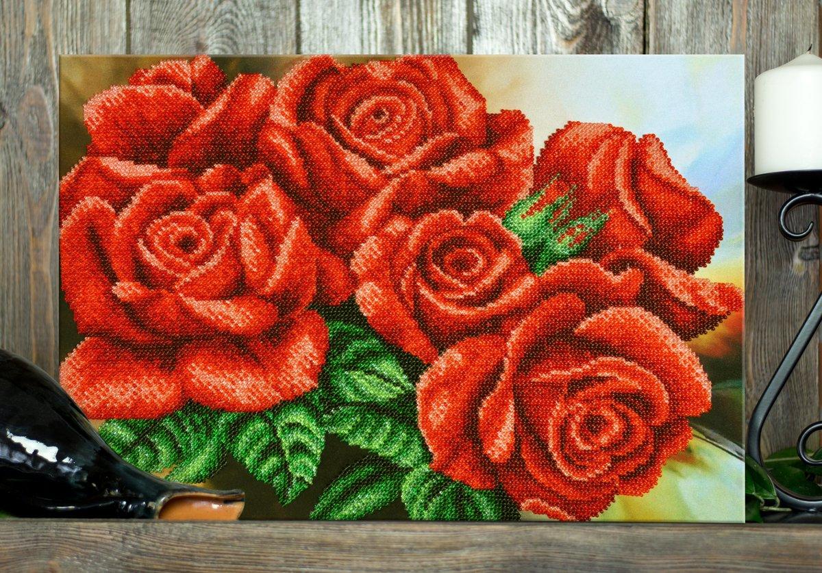 как вышить бисером красно черные розы фото аппарат