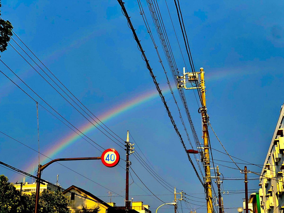 雨も雷も凄かったけど、上がったら虹が2つ出てた🌈🌈 明日は磔磔でライブ! よろしくお願いします! 8月14日(金)@京都 磔磔 w/アニーキー・ア・ゴーゴー 開場18時 開演19時 前売2800 当日3300