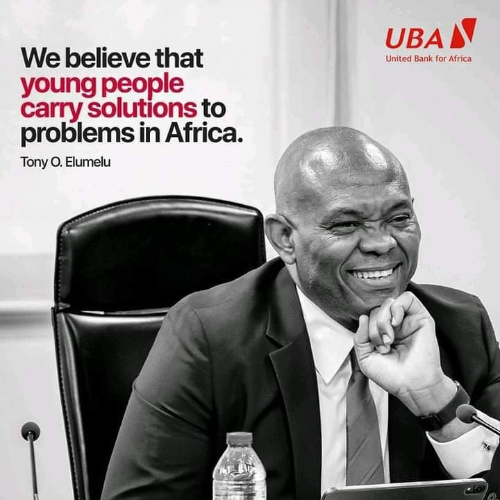 """""""Young people carry solutions to problems in Africa."""" -Tony O.Elumelu #TBT #AfricasGlobalBank #UBAZambia https://t.co/64x6Ghdbgm"""