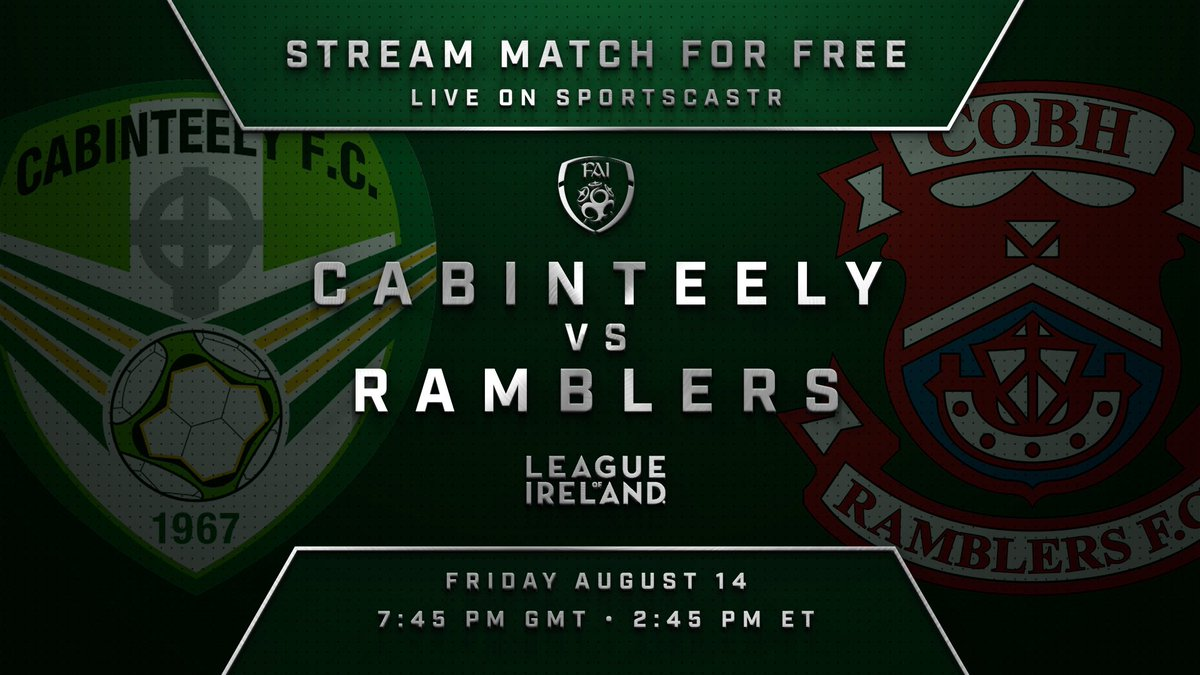 BREAKING NEWS - 🎥📺 We are pleased to confirm that tomorrow night's @SSEAirtricityLg First Division fixture v @CobhRamblersFC will be streamed live from Stradbrook - in association with @SportsCastrLive More details will be available later 👏⚽️ https://t.co/mNpRM0ujq6