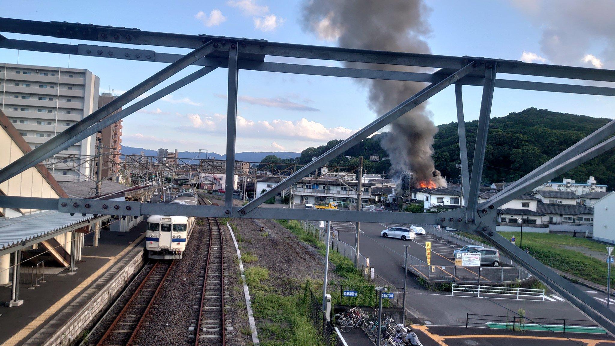 別府市亀川浜田町の建物火災の元の画像