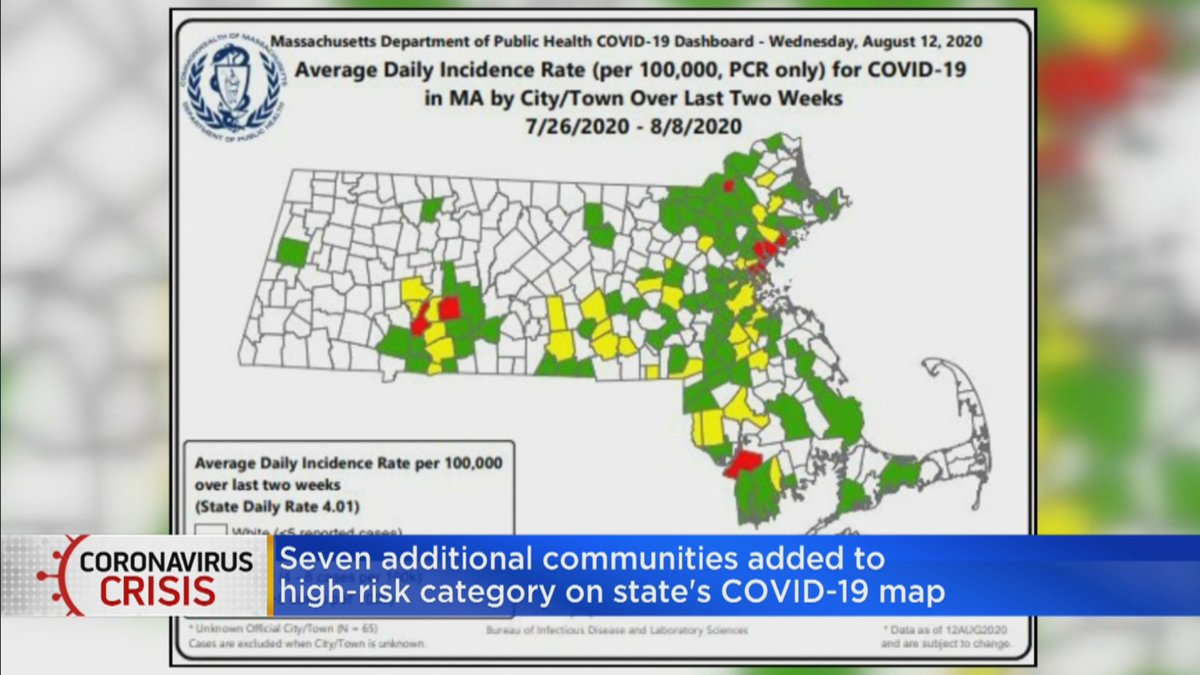 """Breana Pitts on Twitter: """"9 cities & towns in MA now considered"""