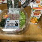 Image for the Tweet beginning: #1日一麺生活 #今日の野菜 おやつのコンビニうどんと野菜生活