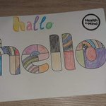 Image for the Tweet beginning: One of our #WritingToSayHello postcards