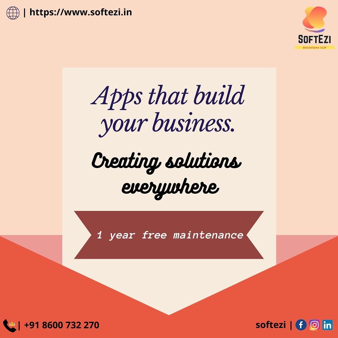 Apps that build your business #softezi #softezisolutions #softezisolutionsllp #webdevelopment #mobileapplicationdevelopment #digitalmarketing #desktopapplication #ecommerce #erpsolutions https://t.co/lh81frnAg3