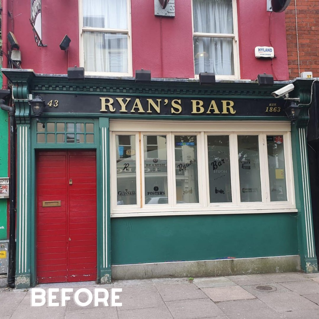 We love seeing our customers Before & After transformations!! What do you think of the revamp of a little gem in North Main Street, Cork? We think after the revamp, it now has much street presence. Hope you agree. https://t.co/Aj33aAV3WS