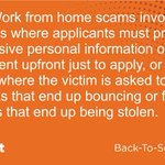 Image for the Tweet beginning: A8: Work from home scams