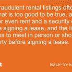Image for the Tweet beginning: A9: Fraudulent rental listings often