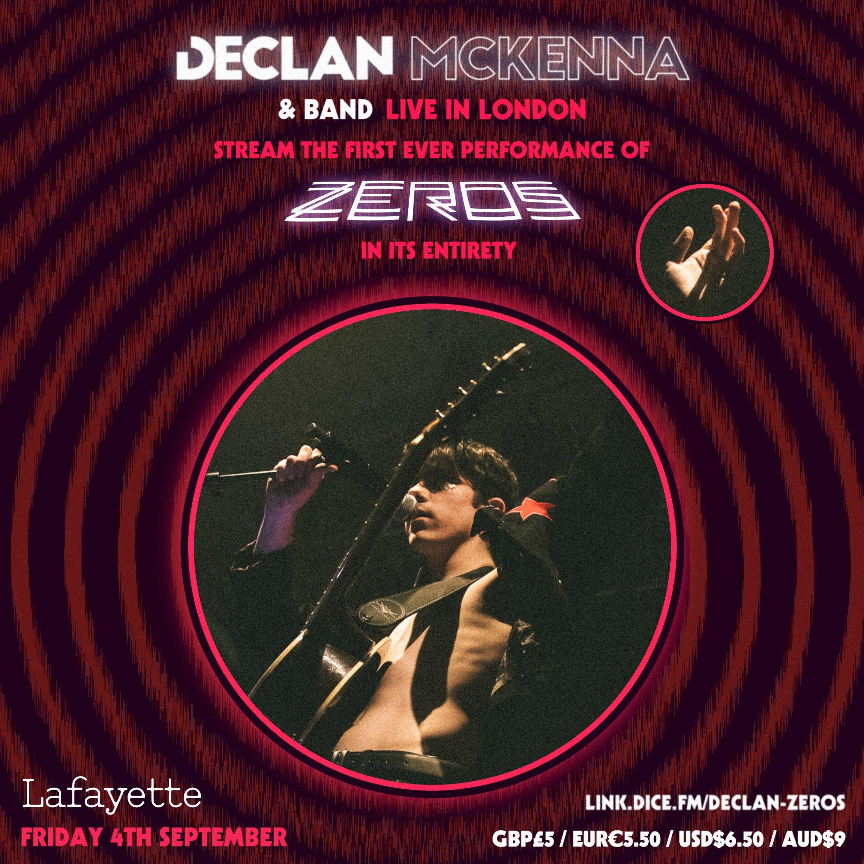 L'affiche du concert en ligne de Declan McKenna et son groupe