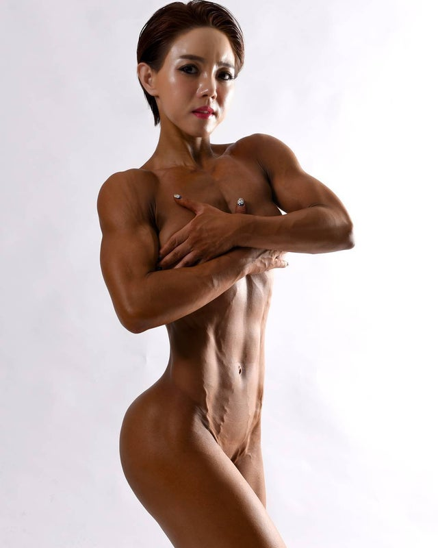 Asian nude yoga