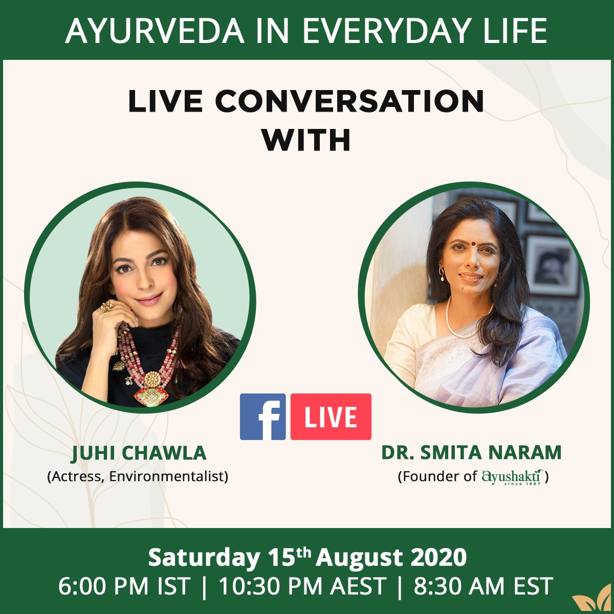 Embrace the goodness & simplicity of Ayurveda! Be it beauty, mental wellness, home & living, Ayurveda has an answer to everything. On 15th August, join me in a conversation with Dr. @smitanaram1 as she shares with us natural & effective home remedies, straight out of your kitchen https://t.co/1IWM0bRjnc