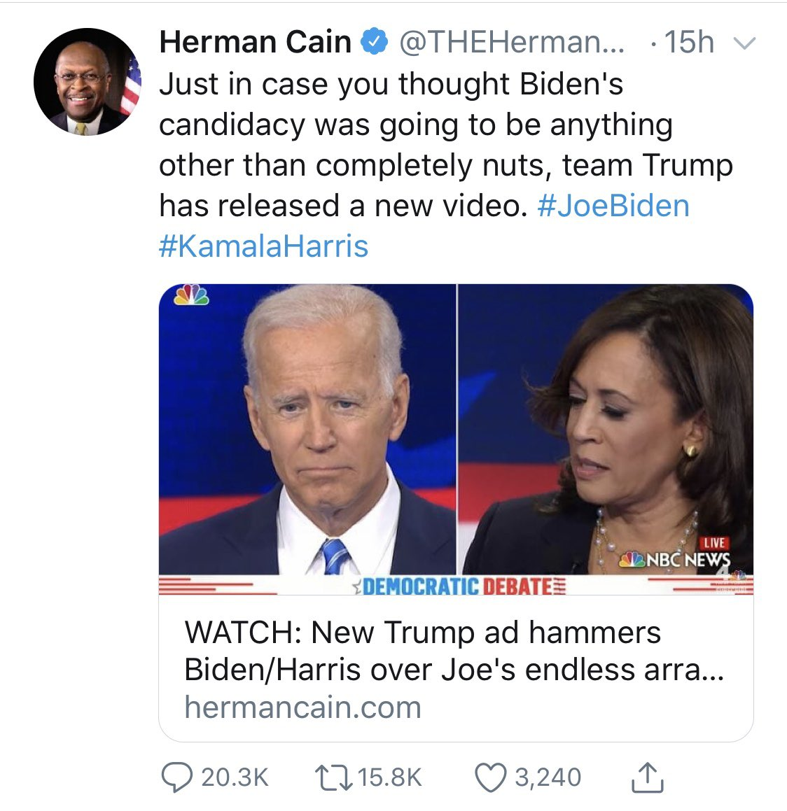 Herman Cain died from COVID-19 two weeks ago. Why is he still tweeting?