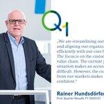 Image for the Tweet beginning: CEO Rainer Hundsdörfer now covers