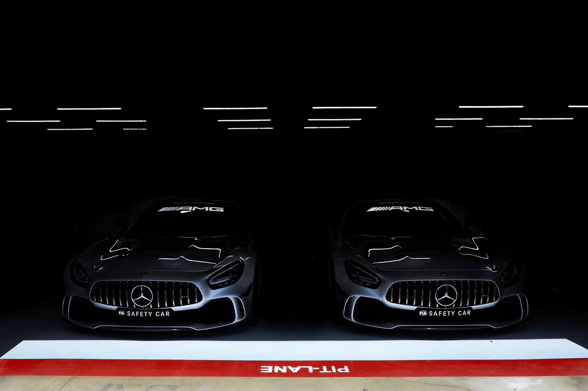 Beasts lurking in the shadows 👀🔥  Tag a mate who'd join you for a few laps in the @f1 Safety Car! 👊 https://t.co/471wTBnHuP