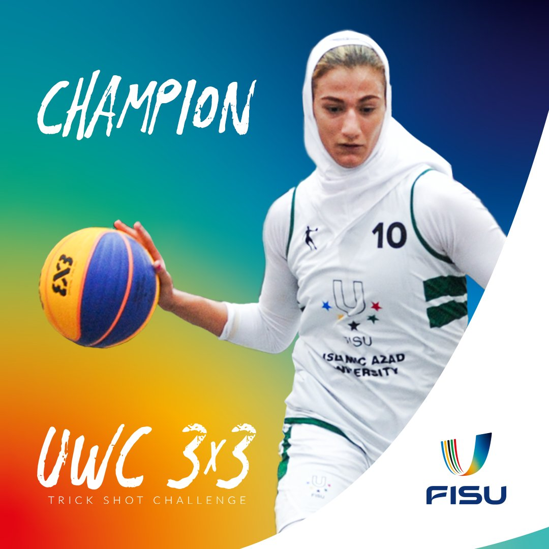 Receiving 45% of the votes in our final round, Kimiya Yazdian Tehrani is our UWC 3x3 Trick Shot Challenge champion! 🥳 #UniHoops https://t.co/STFoOsecvD