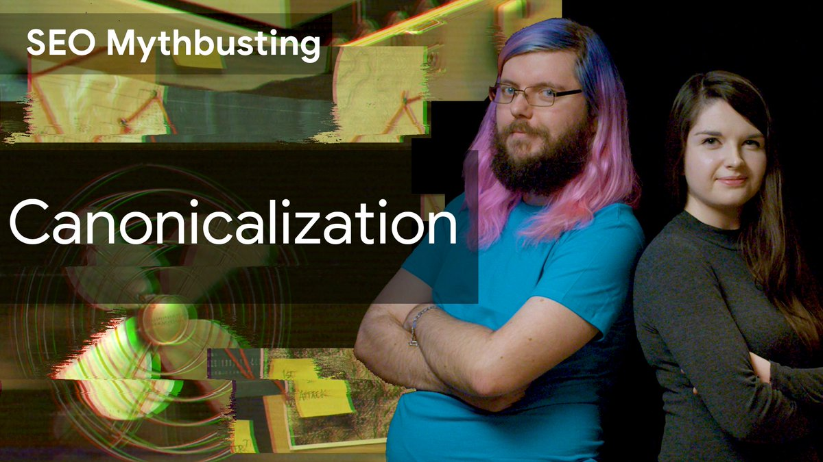 👻 SEO Mythbusting takes on 📄📄Canonicalization📄📄!  This week, @g33konaut sits down with @rachellcostello to discuss:  ➡️ canonicalization: directive or signal? ➡️ deduplication factors ➡️ site's preference vs user's preference  ...and more!  📺 → https://t.co/6uNcu8uHsj https://t.co/6GdvIdW4ib