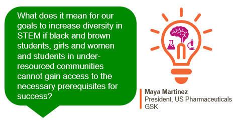 Missed our announcement yesterday about our $10M commitment over 10 yrs. to help increase the number of diverse students in #Philly who become #STEM professionals? Hear more from Maya, our President, US Pharma on how we're confronting inequity in STEM 👉 https://t.co/eNnbq6arF8 https://t.co/CtpOBSCMHo