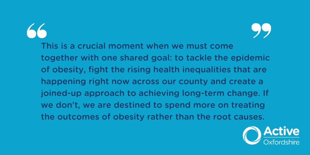 The government is promoting weight loss & physical activity. How do you think #Oxfordshire organisations can best support residents become more active ? Here's wour thoughts  https://t.co/ZKbwlhjsts  #FightingInactivity #BetterHealth