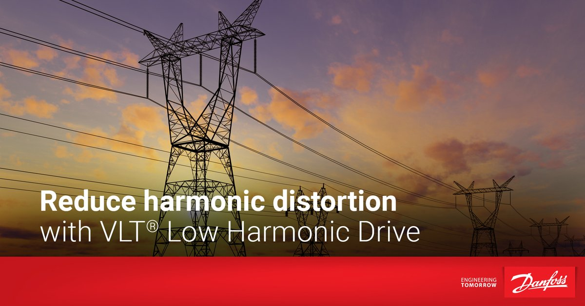 Our webinar on #harmonicdistortion launched today, so let's take a look at our VLT® Low Harmonic Drive.    - Unmatched energy efficiency    - Ensure top harmonic performance   Check out our fact sheet for full details on this #ACdrive: https://t.co/Y7VBXWlPgD https://t.co/Yug2QUSboP