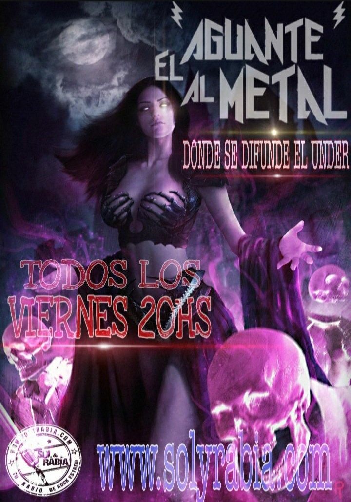 """Hoy estrenamos programa """"El Aguante al Metal"""" desde Argentina lo mejor del Under, estará semanalmente todos los Viernes a las 20:00 horas en https://t.co/augJlg2POJ"""
