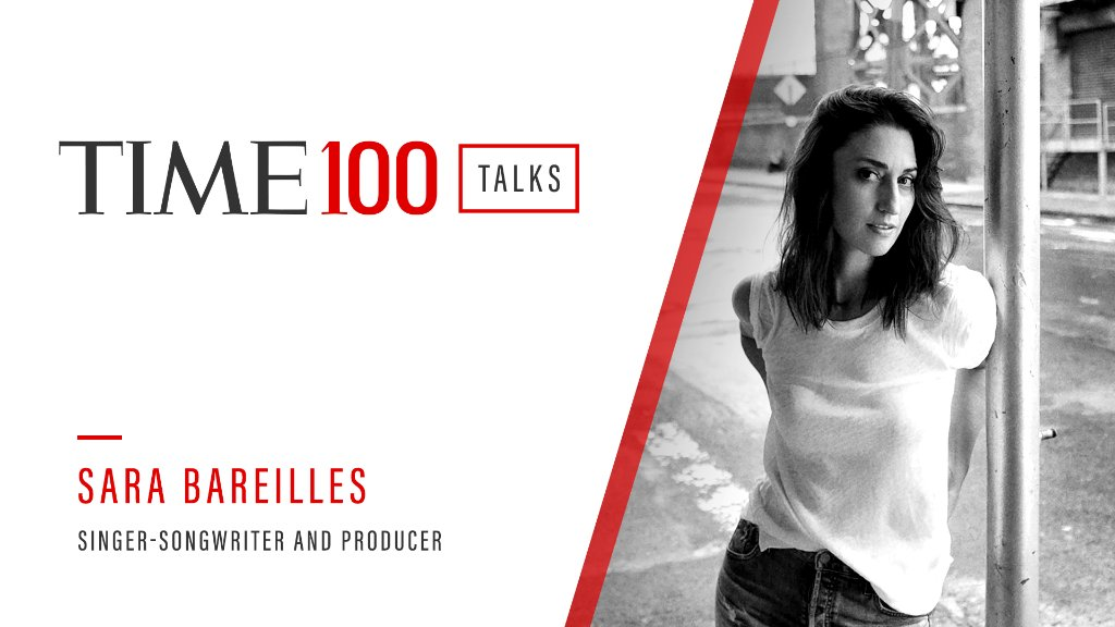 Starting in one hour, join us for a live #TIME100Talks featuring @SaraBareilles. Register now: https://t.co/ErV7zU1rgz https://t.co/vrxCqUmcNL