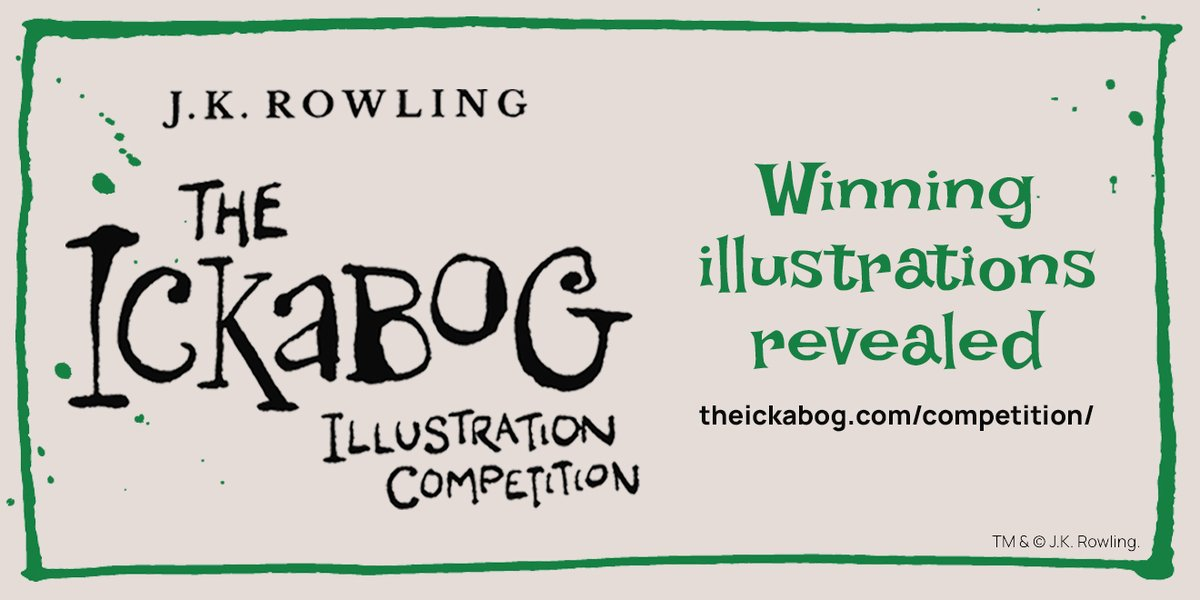 We are excited to share a first look at the winning illustrations from @TheIckabog illustration competition!   34 winning illustrations have been selected to appear in J.K. Rowling's #TheIckabog, publishing 10th November.  View the winning illustrations:
