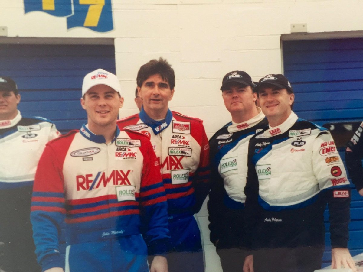 #ThrowbackThursday   2002 24 Hours of Daytona race.   Not sure whose suit I borrowed!! https://t.co/GluwOyrGbI