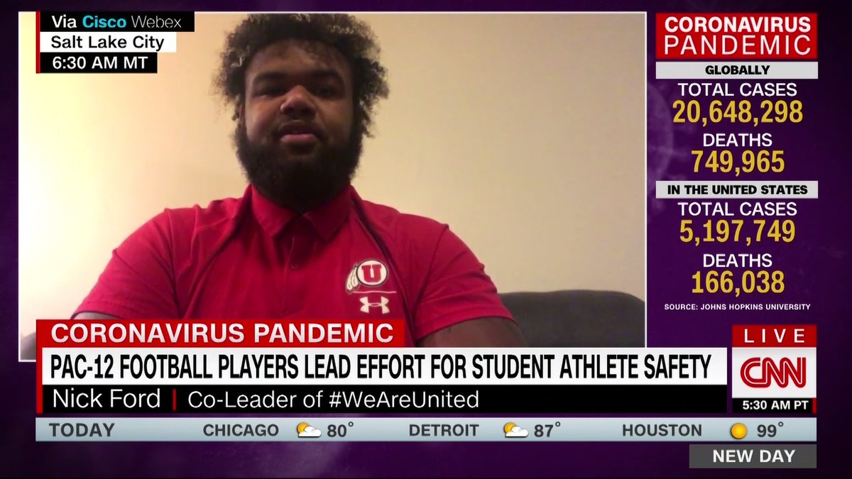 Although people have been going stir crazy without college football, University of Utah player Nick Ford says safety takes priority. We didnt want to come back and have the university and the football team become a hotspot for the coronavirus and then have it...wreak havoc.