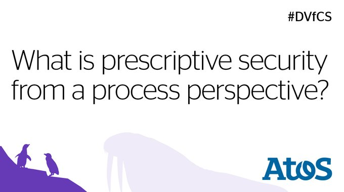 #PrescriptiveSecurity is a game changer.' Stephen Wing tells us why in his new #DVfCS...